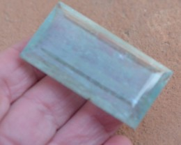 150.25ct 52mm Aquamarine gemstone oblong emerald rectangle blue