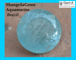 87.60ct 29mm Aquamarine gemstone round blue