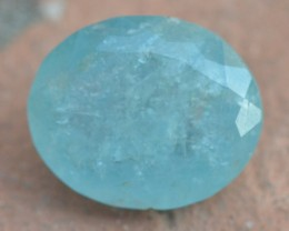 44.50ct 25mm Aquamarine gemstone oval blue
