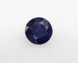 0.78cts Natural Australian Blue Sapphire Round Cut