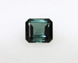 0.94cts Natural Green Tourmaline Emerald Step Cut