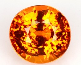 1.21 Cts Natural Mandrain Orange Spessartite Garnet Round