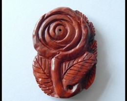110 ct Valentine's Day Rose Red Jasper Gemstone Rose