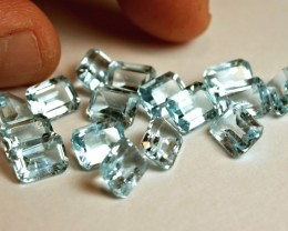 47.25 Tcw. VS Blue Topaz Gemstones - Superb