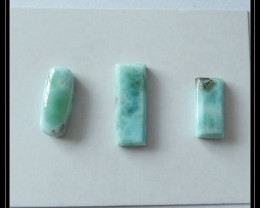 3 PCS Natural Larimar Cabochon