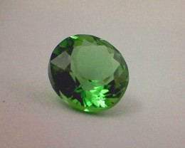 CERTIFIED .63ct Stunning Chrome Green Tourmaline, Near Flawless IF/VVS A538