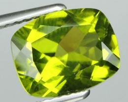 3.00 CTS LUXURY! RICH GREEN PERIDOT CUSHION CUT PAKISTAN