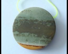 127 Ct Natural Owyhee Jasper Round Pendant Bead