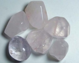 ROSE QUARTZ (6PC) DRILLED 131CTS NP-567