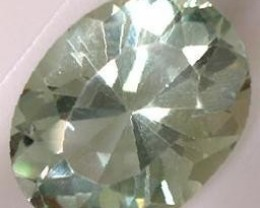 PRASIOLITE GREEN AMETHYST 3.40 CARAT WEIGHT OVAL CUT GEM NR