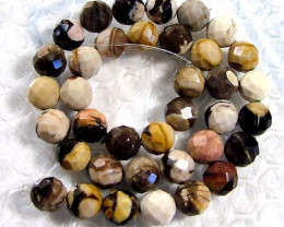 PETRIFIED WOOD BEADS STRAND 290 CTS NP-989