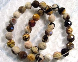 290 CTS PETRIFIED WOOD BEADS STRAND NP-987