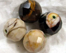 PETRIFIED WOOD BEADS (8PC) 64 CTS NP-1132