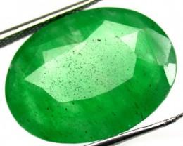 Quartz Emerald Green colour  12.90   carats   QU71
