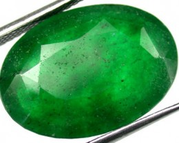 Quartz Emerald Green colour   10.40  carats   QU74