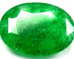Quartz Emerald Green colour  9.90   carats   QU75
