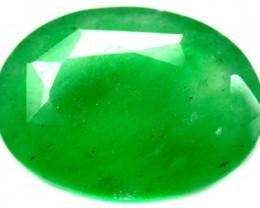 Quartz Emerald Green colour  12  carats   QU84