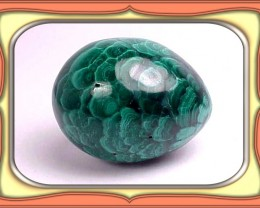158.5ct. Extremely Rare South Afrian Chatoyant Malachit Egg