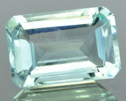 1.90 Cts Natural Light Blue Aquamarine Octagon Cut Brazil Gem NR