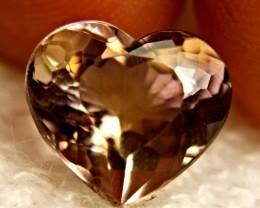 Stunning Fancy Facet HeartbShaped Ametrine- 6.71 cts-VVS-Brazilian Beauty