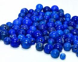 500 CT Natural lapis lazuli carved beeds lot