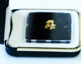 0. 57 Grams  Australian  Gold  Nuggest in Display case LGN 1331