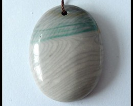 75.3Ct Natural Wave Jasper Pendant Bead