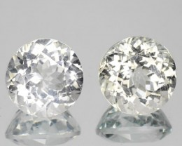 UNHEATED 6.31 Cts Natural Topaz 8.50 mm Round 2 Pcs Brazil Gem NR