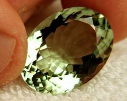 25.36 Carat Prasiolite / Green VVS1 Amethyst - Gorgeous