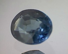 .90ct Pretty Green- BLUE Oval Parti Sapphire VVS Australia TH150