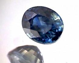 1.20ct Green-Blue Oval Parti Sapphire VVS Australia TH151