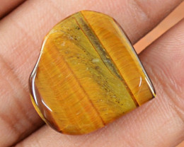 Genuine 13.40 Cts Heart Shaped Golden Tiger Eye Cab