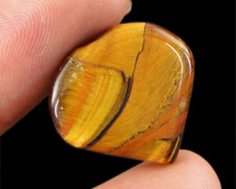 Genuine 16.40 Cts Heart Shaped Golden Tiger Eye Cab