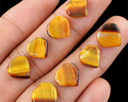 Genuine 24.65 Cts Heart Shaped Golden Tiger Eye Cab