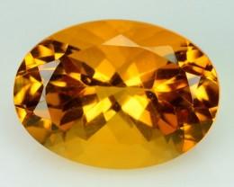 12.87 Cts Natural Golden Orange Citrine 18x13 Oval Faceted Brazil Gem