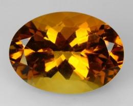 11.05 Cts Natural Golden Orange Citrine Oval Faceted Brazil Gem
