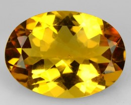 9.94 Cts Natural Golden Orange Citrine Oval Faceted Brazil Gem