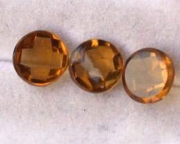 2.44 Carat Matched Trio of Nice Citrines