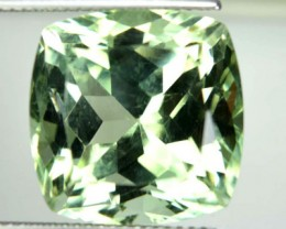 16.42 Cts Natural Green Amethyst/Prasiolite Cushion Cut Brazil Gem NR