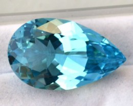 16.67 Carat Pear Cut Sky Blue Topaz