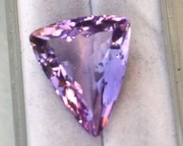 9.63 Carat Fancy Triangle Cut Amethyst