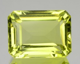 7.14 Cts Natural Lemon Yellow Quartz Octagon Cut Brazil Gem NR