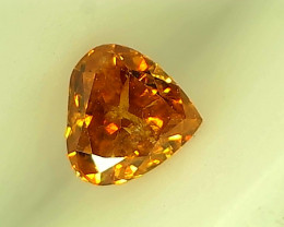 0.18ct Fancy Vivid Reddish Orange Diamond ,100% Natural Untreated