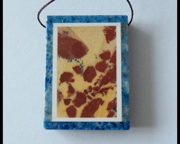 96.5 ct New Design Lapis Lazuli Intarsia Pendant Bead(