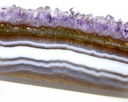 Amethyst Stalagtite Polished Slice Stone 43.65cts ANGC-201