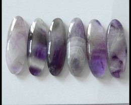 6pcs Natural Amethyst Gemstone Cabochon ,Hand Polished!