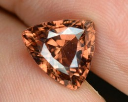 5.34 Cts Natural Imperial Brown Zircon Trillion Cut Ceylon Gem