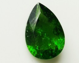 1.70ct Rich Green Chrome Diopside Pear NO RESERVE!
