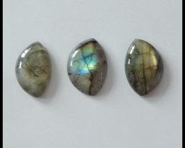 3PCS Natural Labradorite Cabochons,26.5ct