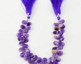 Genuine 109.80 Cts Purple Amethyst Beads Strand